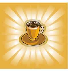 Banner with coffee cup vector