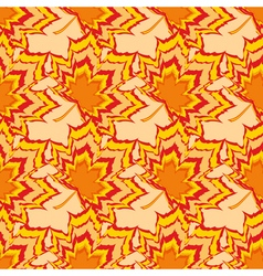 Autumn seamless pattern with orange leaf vector