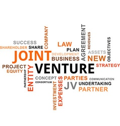 Word cloud joint venture vector