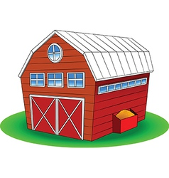Cartoon barn vector