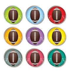Multicolored american football emblems vector