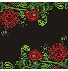 Floral nature pattern background vector