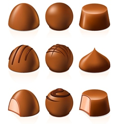 Chocolate candies vector