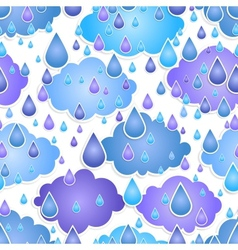 Seamless background with drops of a rain vector