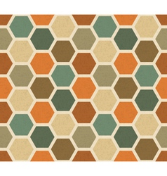 Hexagonal vintage seamless pattern vector