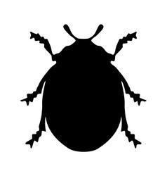 Ladybird silhouette vector