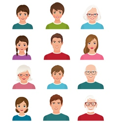 Avatars people of different ages vector