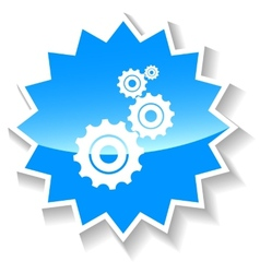 Mechanism blue icon vector