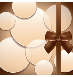 Cover of the present box abstract brown background vector
