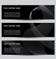Abstract wave banners vector