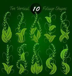 Vertical foliage vector