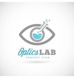 Optic laboratory abstract concept symbol icon vector