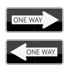 One way signs vector