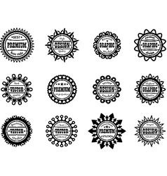 Set award icon for graphic and design studios vector