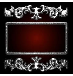 Silver decor vector