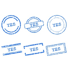 Yes stamps vector
