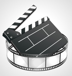 Film clap board vector