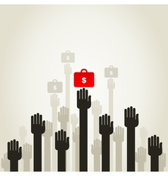 Hand business5 vector