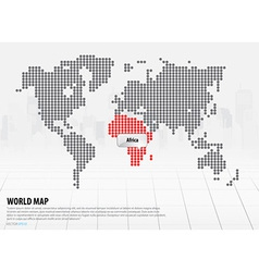 World map with continents africa vector