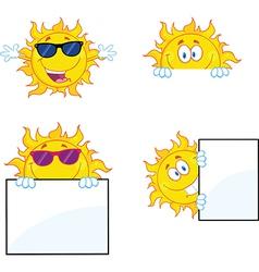 Weather cartoons vector