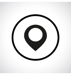Map pointer icon in a circle vector