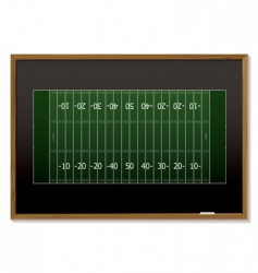 American football blackboard vector