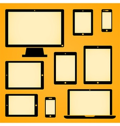 Mobile device symbols vector