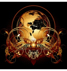 Heraldic world vector