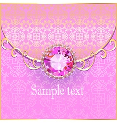 Background with pink gems vector