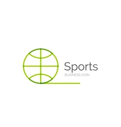 Line minimal design logo ball sports vector