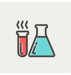 Lab supplies thin line icon vector