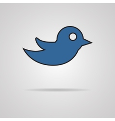 Bird design over gray background vector
