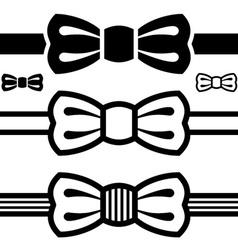 Bow tie black symbols vector