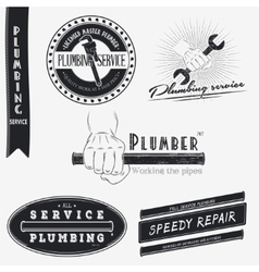 Plumbing service home repairs repair and vector
