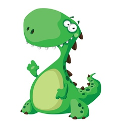 Green dinosaur vector