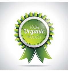 Organic product labels with shiny styled design vector