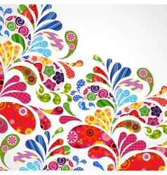 Floral and ornamental item background vector
