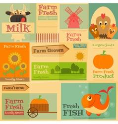 Farm posters vector