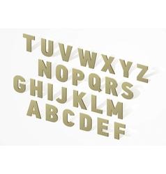 3d font alphabet vector
