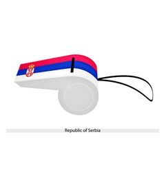 A whistle of the republic of serbia vector