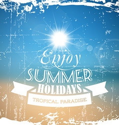Abstract summer poster with beach background vector