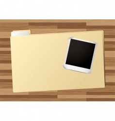 Business folder icon vector