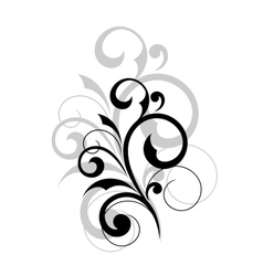 Elegant scrolling foliate design element vector