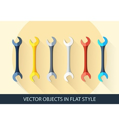 Set of wrench key sign icon service tool symbol vector