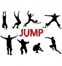 People jump vector