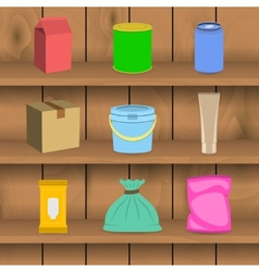 Pack container icon shelf vector