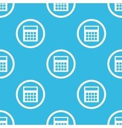Calculator sign blue pattern vector