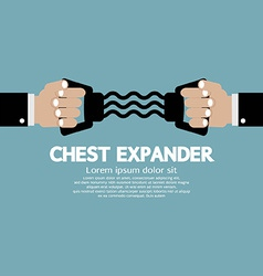 Chest expander fitness equipment vector