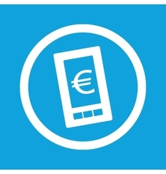 Euro on screen sign icon vector