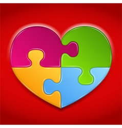 Puzzle heart vector